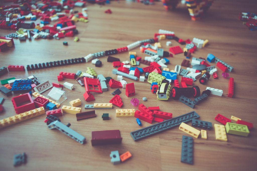 children's toys on the bedroom floor